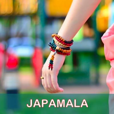 Japamala Colorida de Contas de Sândalo