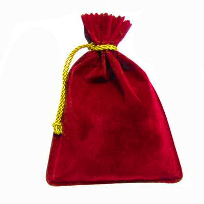 Bolsa de Veludo Vermelha 15x11cm