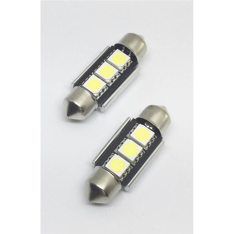 KIT LÂMPADAS FESTOOM CAN BUS 36MM 3 LED'S LKLP301