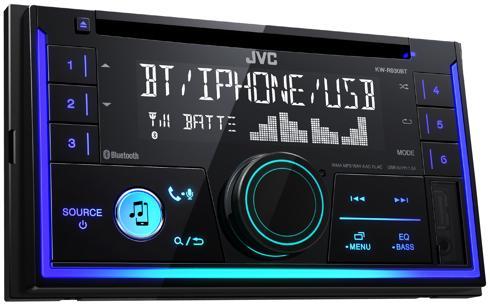 JVC KW-R930BTE  Duplo DIN Autorrádio Bluetooth Multicor