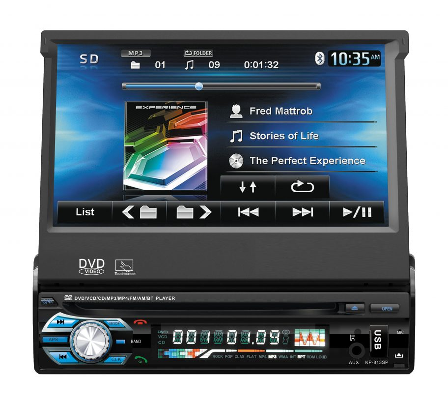 Autorrádio Sicur Flip Out Multimédia DVD RDS USB SD SCDM501