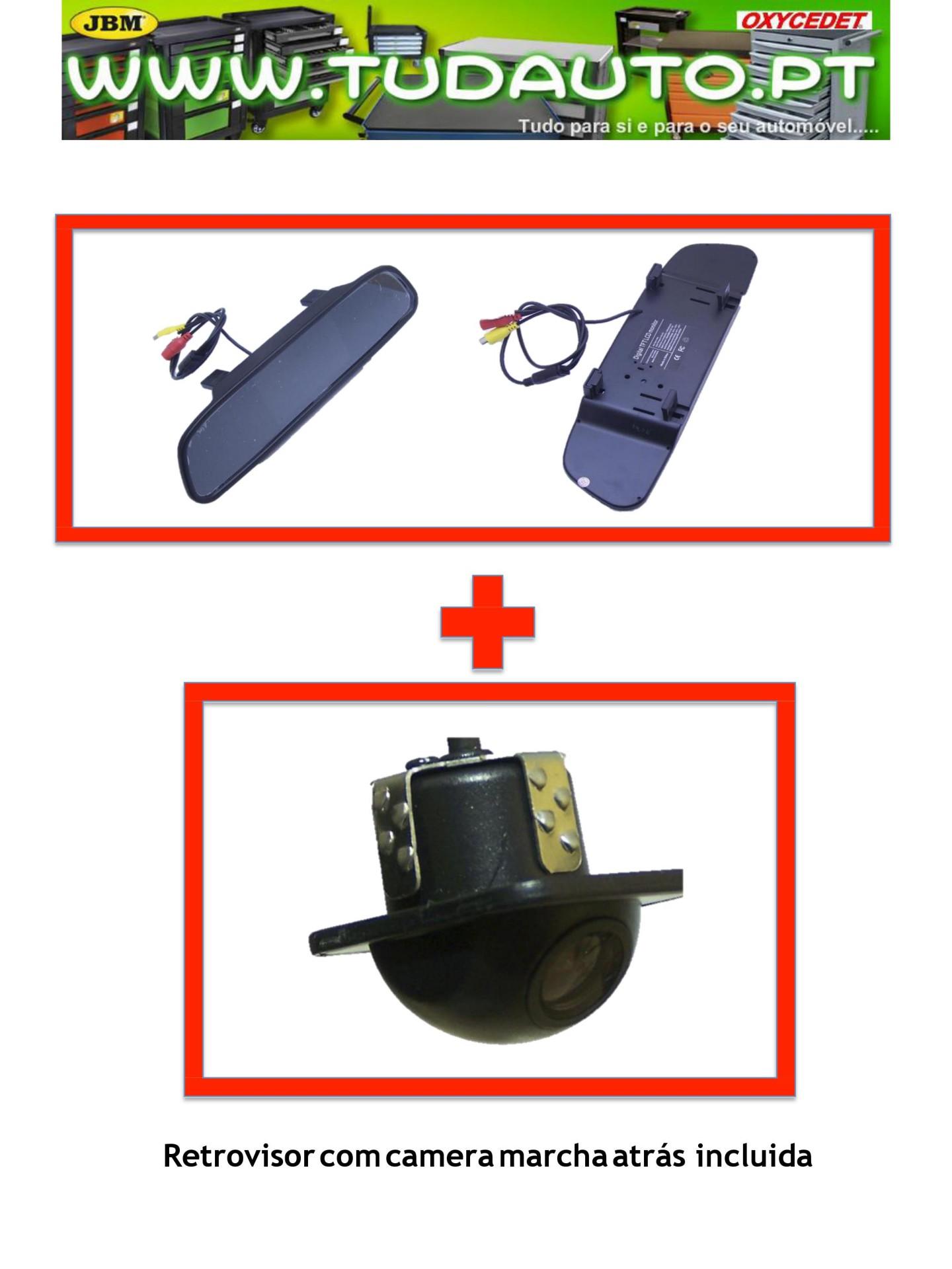 Kit Espelho Retrovisor LKMON101 + Camera Universal LKCAM19