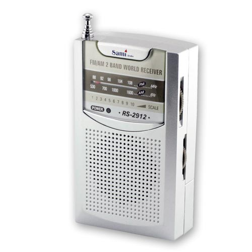 Rádio SAMI AM/FM c/auriculares RS2912