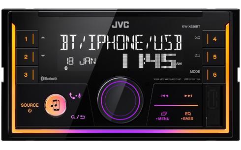 JVC KW-X830BT Receptor de Media Digital Duplo DIN