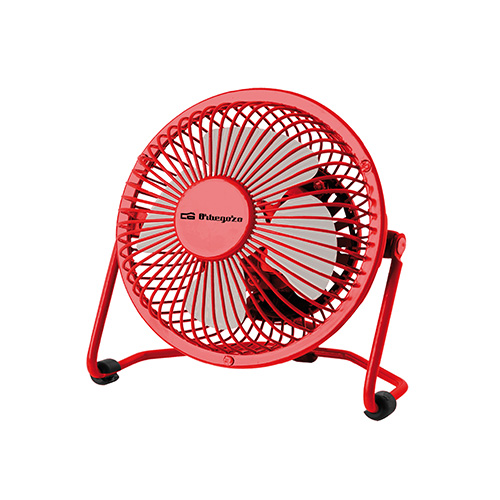 Ventilador Industrial Mini Sobremesa Orbegozo PW1021 10 cm usb vermelho ORB300PW1021