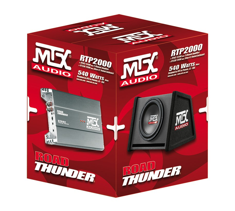 MTX RTP2000 | Subwoofer + amplificador 2 canais | 750W