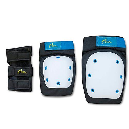 Kit de protecção OLSSON Joelheiras cotoveleiras pulseiras tamanho M