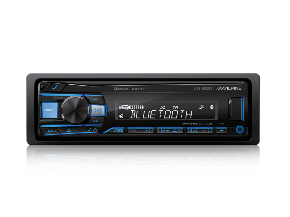 UTE-200BT Alpine Auto-Radio Multimédia Digital C/ Bluetooth® Cor Variável