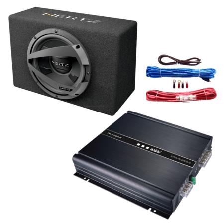 Kit Subwoofer + Amplificador 2 canais + Kit instalação 600W Hertz New Sound KITNEWHERTZ5