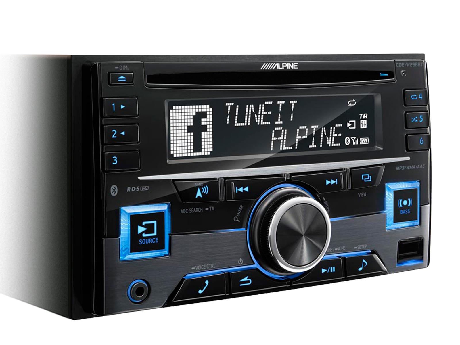 Receptor de CD 2-DIN / Controlador de USB e iPod® com Bluetooth® CDE-W296BT