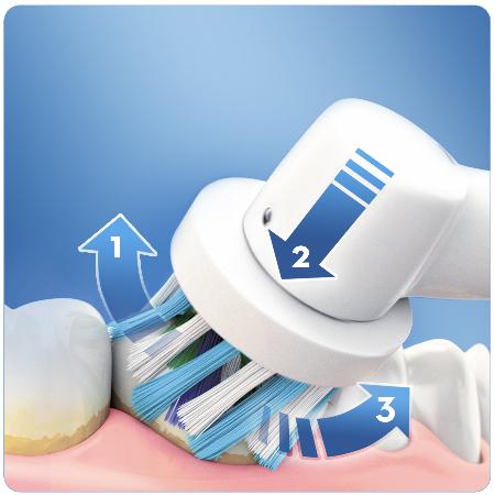 Escova de dentes electrica Braun Oral B Pro 750 3D Action Rosa , Cross Action