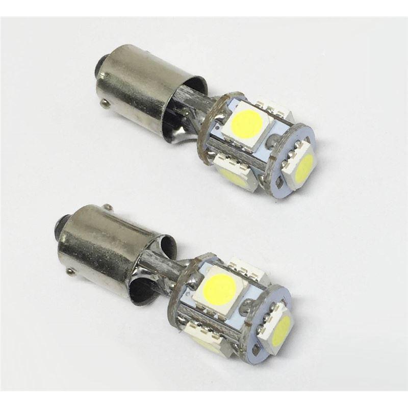 KIT LÂMPADAS LED 24V BA9S T4W 5 LED'S LKLP402