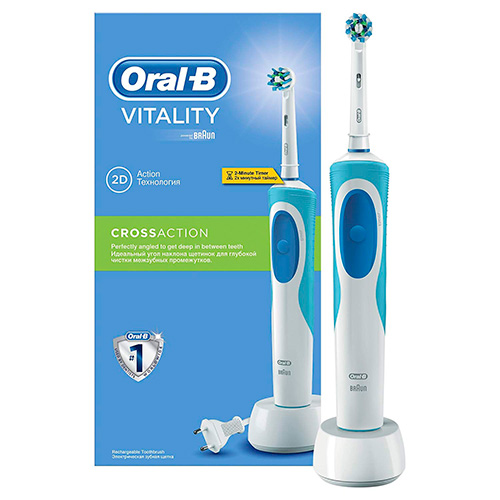 Escova de Dentes Elétrica Oral-B Vitality Cross Action D12513 Azul