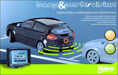 Kit VALEO BparkVision com câmera + display