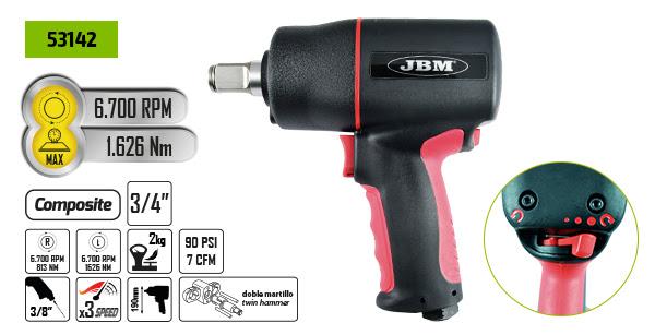 PISTOLA DE IMPACTO JBM 3/4'' COMPOSITE 53142