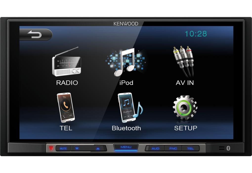 Kenwood DMX-100BT Sistema Multimédia Duplo Din USB Bluetooth S/Mecanismo