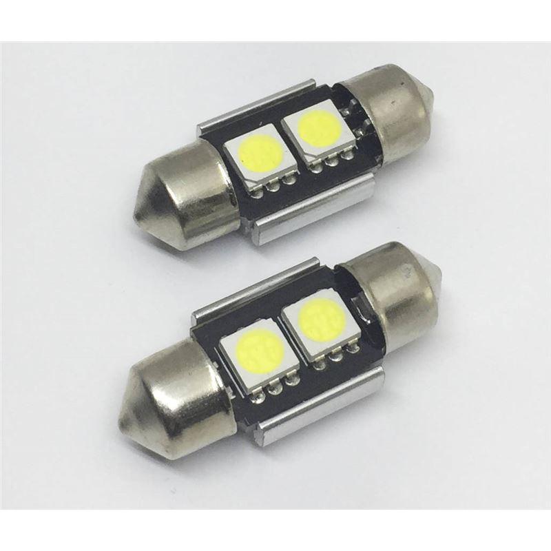 KIT LÂMPADAS LED FESTOOM CAN BUS 31MM 2 LED'S LKLP300
