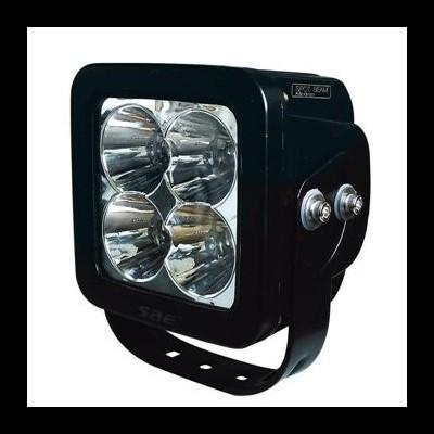 FAROL DE TRABALHO COM 4 LEDS 40W QUADRADO DE LUZ CONCENTRADA JBM 53048