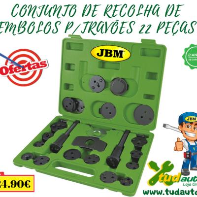 CONJUNTO DE RECOLHA DE EMBOLOS P/TRAVÕES 22 PEÇAS 53231