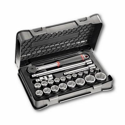 """Jogo chaves de caixa sextavadas em caixa ABS 23 Peças USAG 606 1/2"""" EA"""