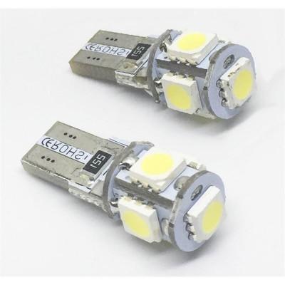 KIT LÂMPADAS LED T10 CAN BUS 5 LED'S 12V 3W LKLP102