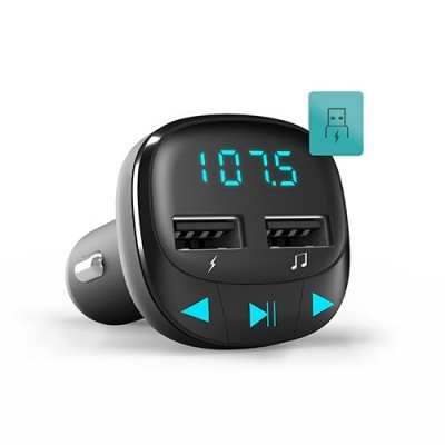 Transmissor Energy FM Preto MicroSD USB MP3 PCS75101448241