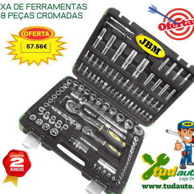 CAIXA DE FERRAMENTAS 108 PEÇAS COM CHAVES HEXAGONAIS - CROMADO 52978