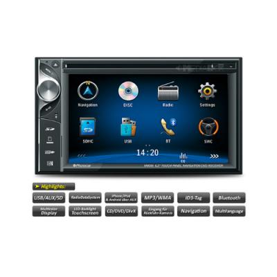 Autorrádio Phonocar Duplo Din CD/DVD USB GPS Bluetooth VM057