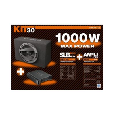 Kit Subwoofer + Amplificador 2 Canais Hertz 1000W KITHERTZ2