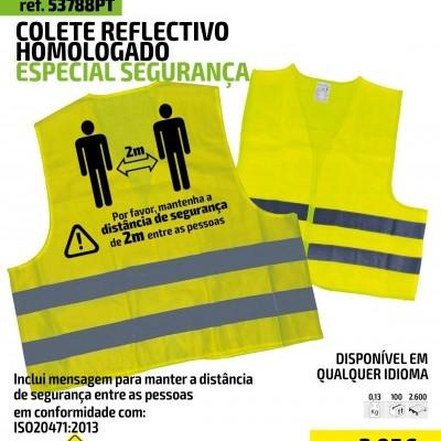 COLETE REFLECTIVO HOMOLOGADO ESPECIAL SEGURANÇA 53788PT