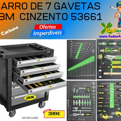 CARRO DE 7 GAVETAS JBM - CINZENTO 53661