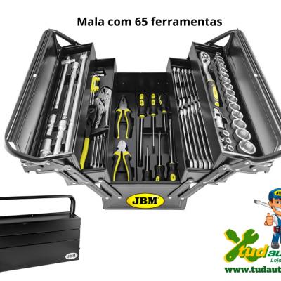 CAIXA EM FERRO JBM COM 64 FERRAMENTAS 53565