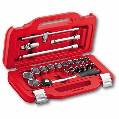 """Jogo de chaves de caixa sextavadas em caixa 22 peças USAG 601 1/2"""" J22 U60112J22"""