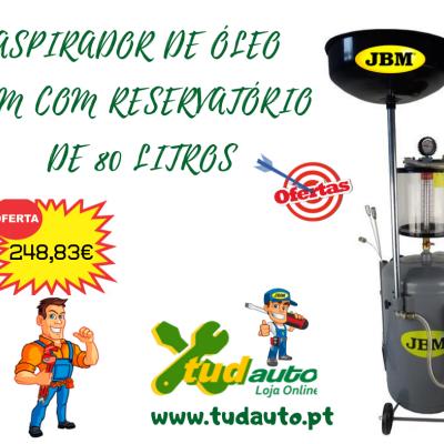 ASPIRADOR DE ÓLEO JBM COM RESERVATÓRIO DE 80 LITROS 53223