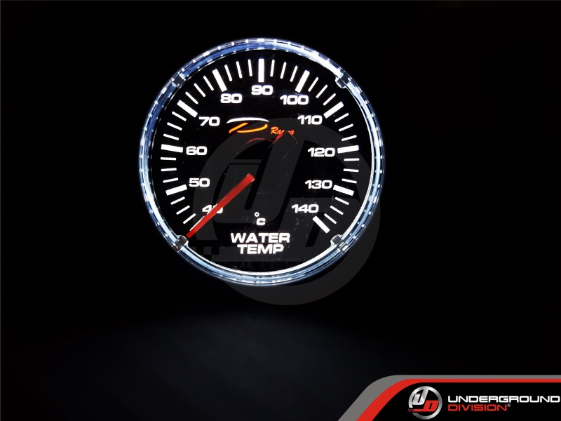 DEPO RACING CSM Series 52mm Water Temperature Gauge (TRANSPARENT LENS)
