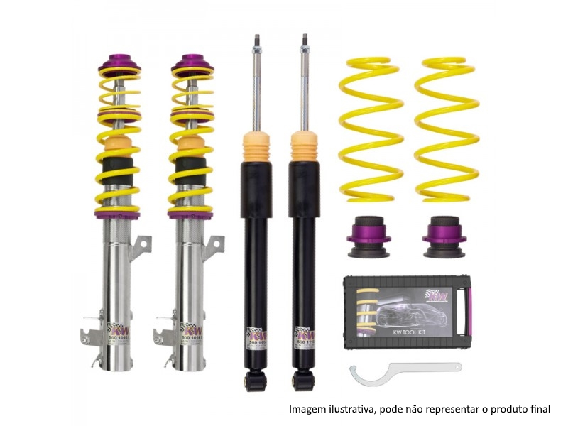 Coilovers KW Inox Line for Audi A3/S3 8L & Seat Leon 1M & Skoda Octavia 1U & VW Bora 1J & VW Golf IV (4WD Models Only)