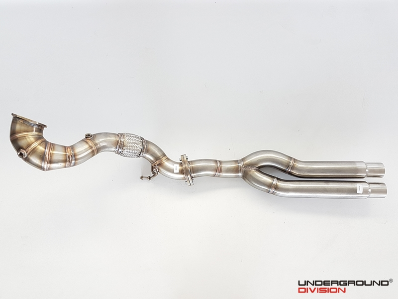 UD Complete Downpipe 3'' 76MM for AUDI RS3 8V & AUDI TT RS 8S 2.5TFSI
