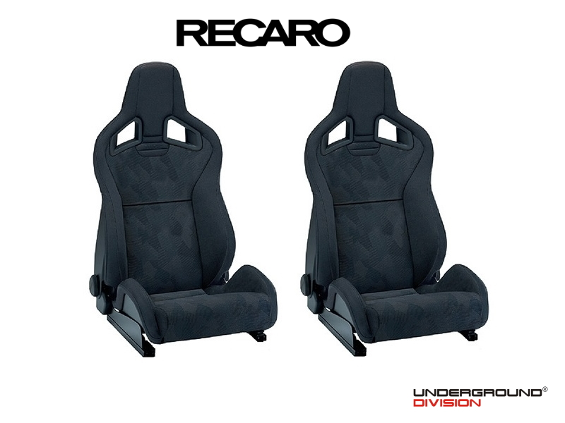 RECARO SPORTSTER CS 2x BUCKET SEAT Left & Right (UNIVERSAL) Nardo Black/Artista Black