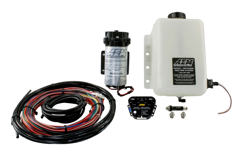 AEM V2 WATER/METHANOL INJECTION KIT - MULTI INPUT CONTROLLER 200PSI & 1 GALLON RESERVOIR