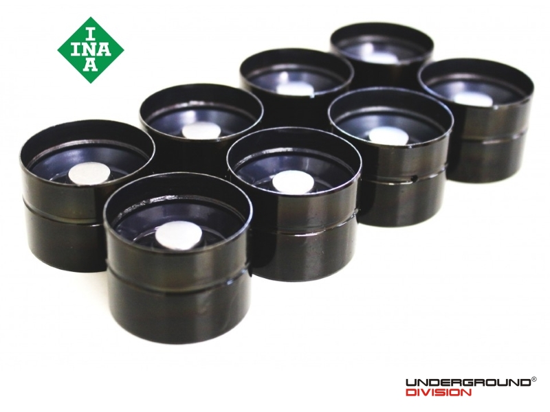 INA Black Nitrided Camshaft Lifters / Followers for VW 1.9 & 2.0 8v TDI PD Engines (SET OF 8)