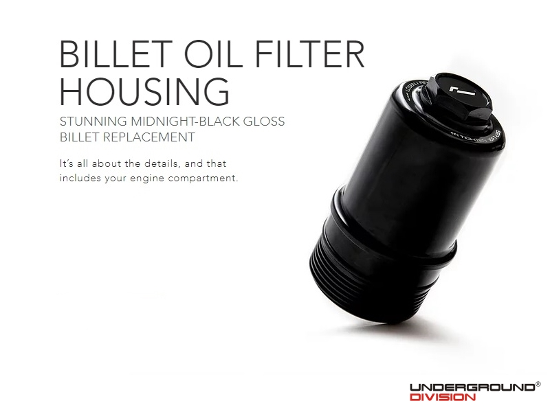 RACINGLINE BILLET OIL FILTER HOUSING 2.0 TSI MQB