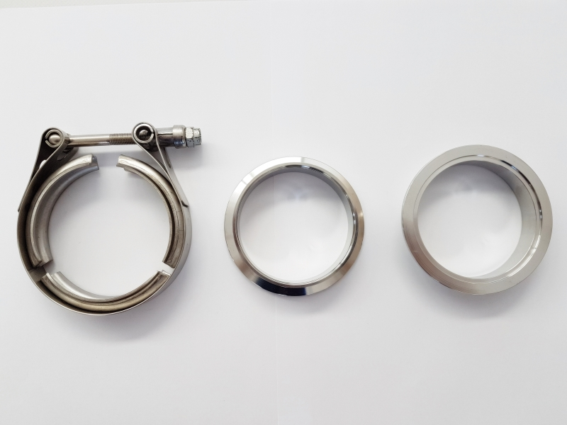 UNIVERSAL STAINLESS STEEL EXHAUST V-BAND CLAMP WITH MALE/FEMALE 76mm (3'')