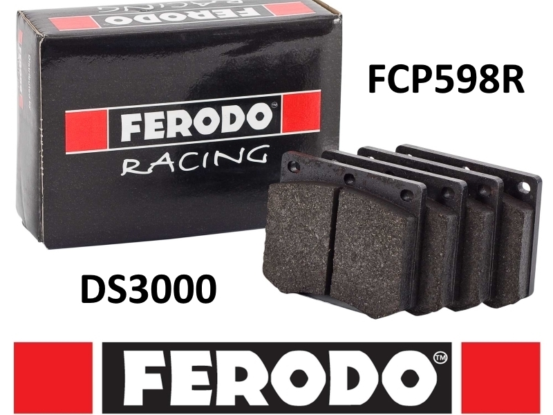FERODO RACING DS3000 HIGH PERFORMANCE BRAKE PADS FRONT (CIVIC/CRX 88-91 NON VTEC) (CLEARANCE)