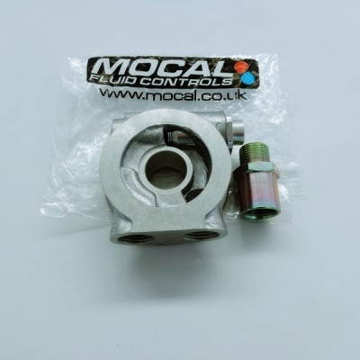 GENUINE MOCAL OIL COOLER SANDWICH PLATE WITH THERMOSTAT M20