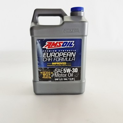 AMSOIL AEL European Car Formula 5W-30 Synthetic Motor Oil (1Gallon - 3.78Lt)