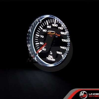 DEPO RACING CSM Series 52mm Oil Temperature Gauge (TRANSPARENT LENS)