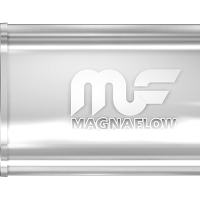 UNIVERSAL MUFFLER MAGNAFLOW OVAL POLISHED #14210 - 2.5'' (63.5MM) (CLEARANCE)