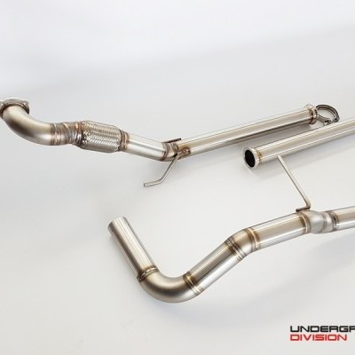 UD SS PERFORMANCE EXHAUST SYSTEM 2.5'' (63.5MM) for IBIZA 6L / POLO 9N / FABIA 6Y
