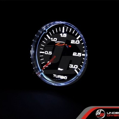 DEPO RACING CSM Series 52mm 3 Bar Mechanical Boost Gauge (TRANSPARENT LENS)