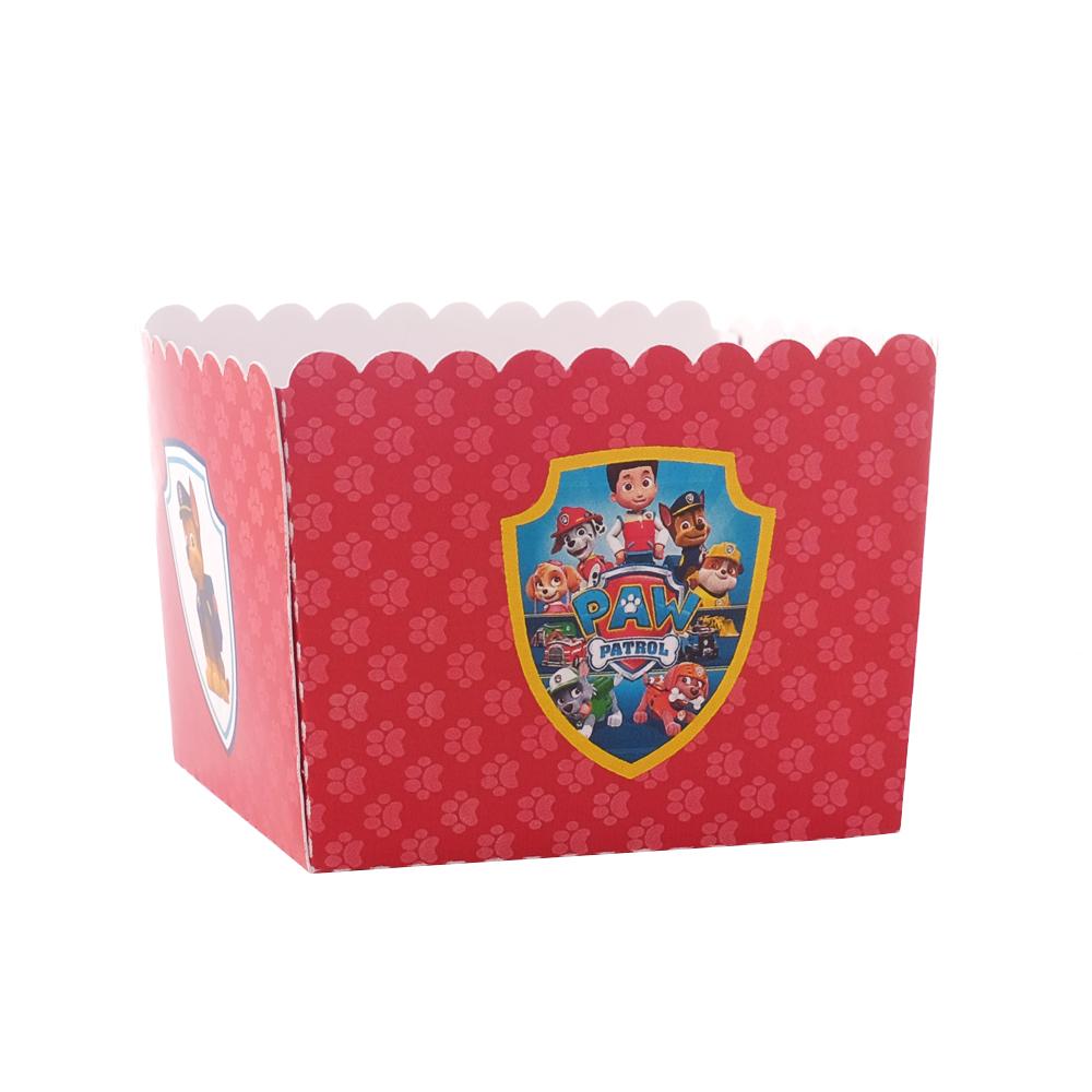 Caixa Pipocas - PATRULHA PATA vermelho